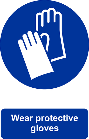 Wear protective gloves icon. Çizim
