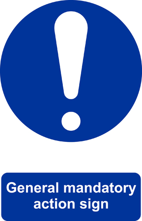 General mandatory action sign. 向量圖像