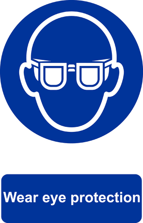 Wear eye protection banner. 版權商用圖片 - 94819465