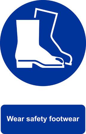 Wear safety footwear Stock Illustratie