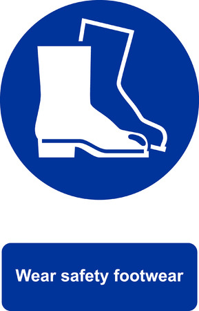 Wear safety footwear Иллюстрация