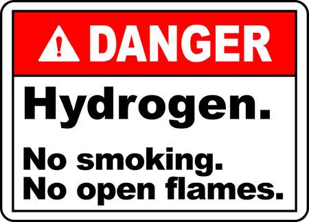 Danger hydrogen no smoking no open flames 版權商用圖片 - 95353428