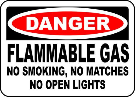 Danger flammable gas no smoking no matches no open lights 版權商用圖片 - 95353432