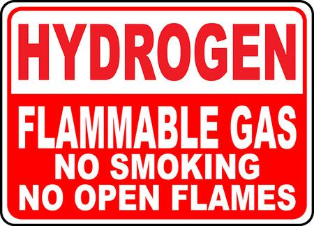 Hydrogen flammable gas no smoking no open flames 版權商用圖片 - 95353438