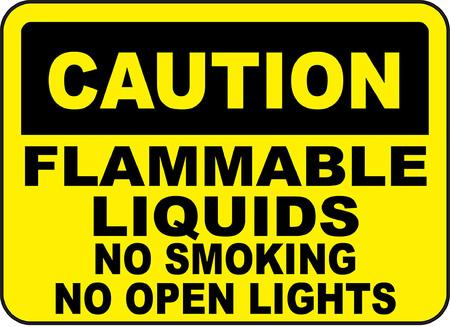 Caution flammable liquids no smoking no open lights Stock fotó - 95351776