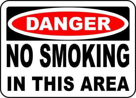 Danger no smoking in this area typography illustration. 版權商用圖片 - 95352145