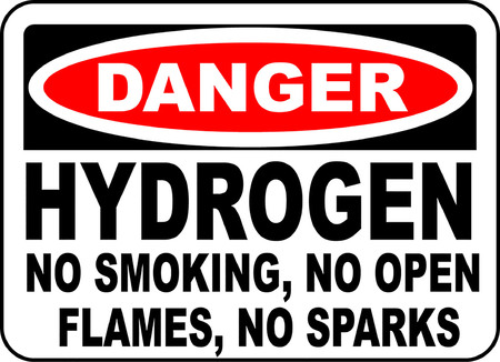danger hydrogen no smoking no open flames no sparks 向量圖像