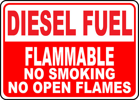 Diesel fuel flammable no smoking no open flames 版權商用圖片 - 95219445