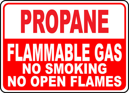 Propane flammable gas no smoking no open flames illustration. 版權商用圖片 - 95229529