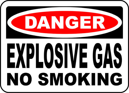 danger explosive gas no smoking