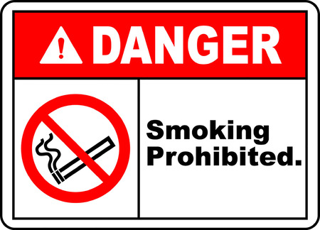 danger smoking prohibited