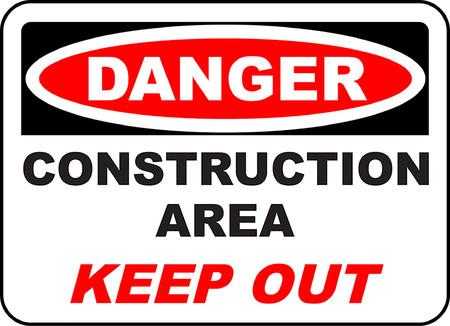 Danger construction area keep out Illustration
