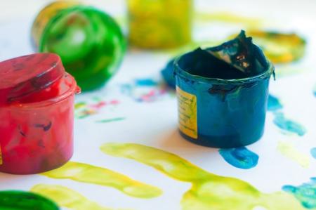 paints: childrens  finger-type paints