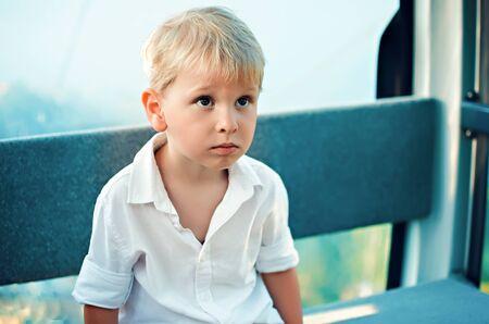 portrait of the little blonde boy