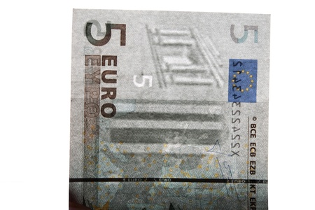 Watermark on 5 euro banknotes
