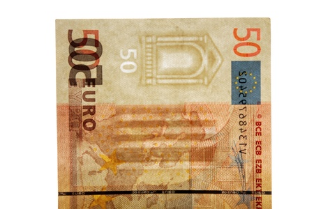 Watermark on 50 euro banknotes