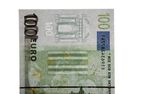 Watermark on 100 euro banknotes