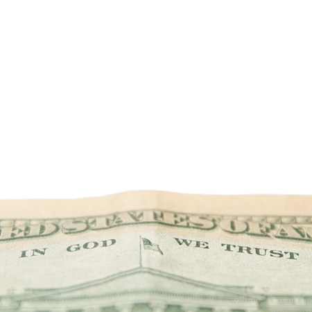 Official motto of the United States on 10 dollars Stock Photo
