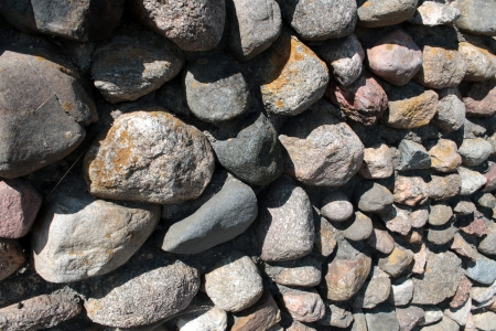 Wall of big stones background Stock Photo