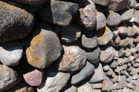 firmness: Wall of big stones background Stock Photo