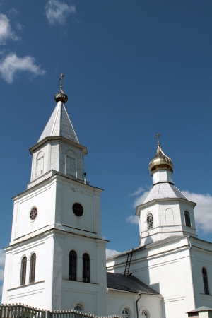 white  russian: White Russian orthodox church in Logoysk, Belarus Stock Photo