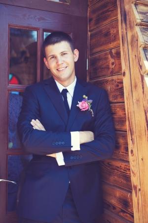 groom portrait at a wedding day