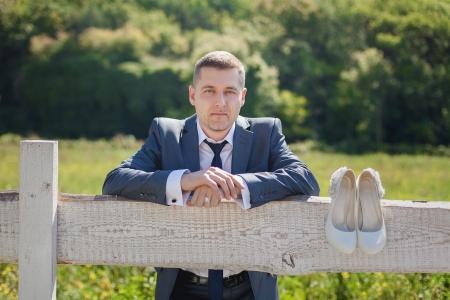 portrait of groom outdoor Stock Photo - 17564085