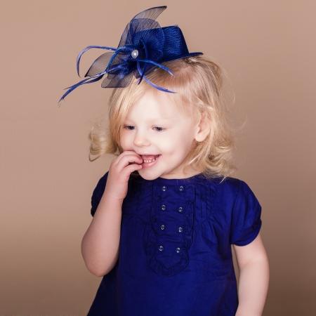 portrait of little girl in studio photo