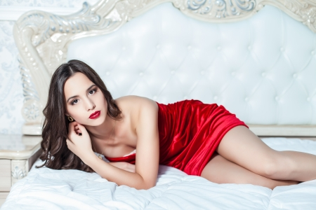 Fashion portrait of elegant young woman in a luxurious interior Stock Photo - 23239598