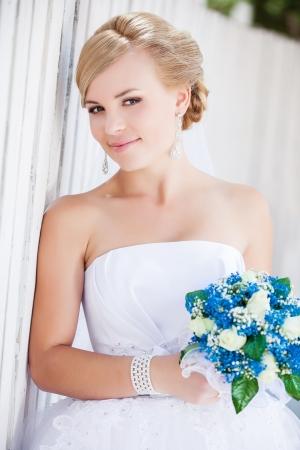 Beautiful Happy Bride outdoors