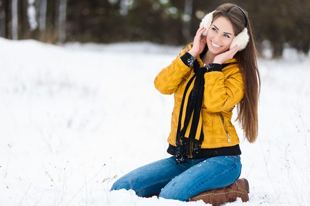 Young woman winter portrait photo