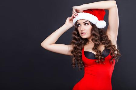 beautiful sexy santa girl