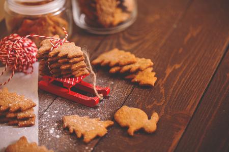 cioccolato natale: biscotti di Natale. decorazioni festive
