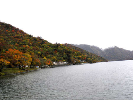 Autumn scene of Chuzenji lake Stock Photo - 17140797
