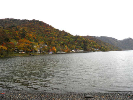 Autumn scene of Chuzenji lake photo