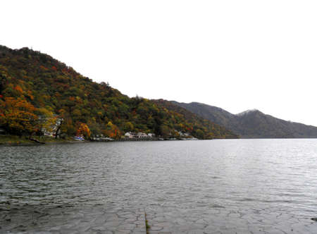 Autumn scene of Chuzenji lake Stock Photo - 17140757