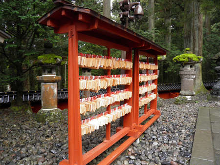 Ema in Japanese temple Stock Photo - 17180651