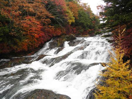 Ryuzu falls ,Nikko ,Japan  photo