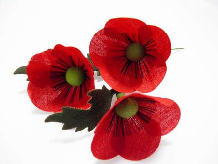 spurious: Poppy flower artificial Stock Photo