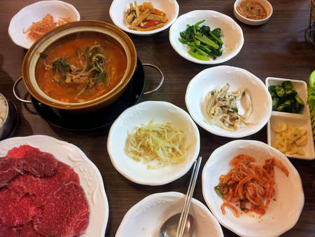 asia food:  Korean food
