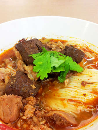 nam: Kanom Jeen Nam Ngeaw  Stock Photo