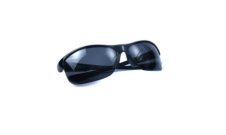 stilish: Fashion stilish summer black sunglasses isolated on white background