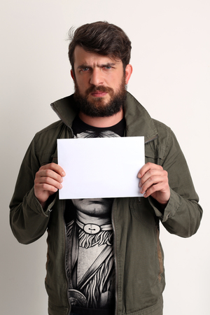 white sheet: man with white sheet Stock Photo