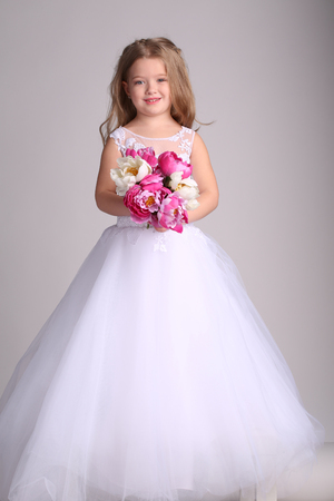 Little Bride Dresses with Flowers