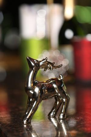 Decorative deer. Close up