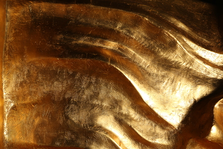 aluminum: Scratched texture of gold Stock Photo