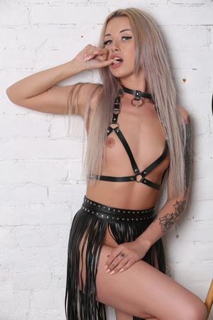Sexy girl in studio.