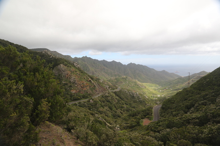 Green hills in Canary Islands