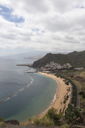 View from above on beautiful beach in Canary Islands