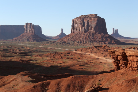 View on Monument Valley Stock Photo